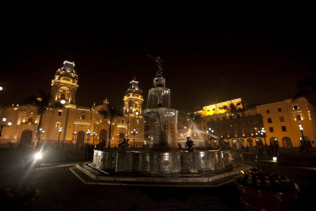 Travel to Peru - Plaza de Armas Lima